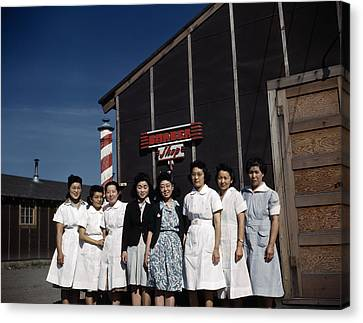Japanese Internment, 1940s Canvas Print