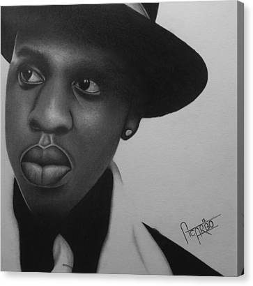 Jay Z Portrait  Shawn Carter Canvas Print by Andres Carbo