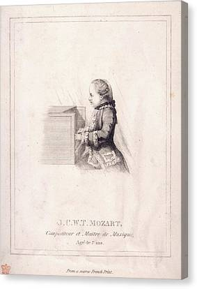 J.c.w.t. Mozart Canvas Print by British Library