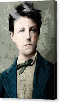Self Portrait Jean Nicolas Arthur Rimbaud  Canvas Print by Celestial Images