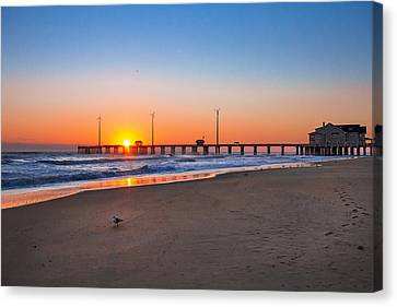 Jennettes Pier Canvas Print by Mary Almond