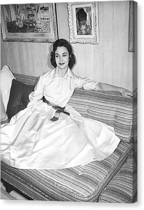 Jennifer Jones, At Home, Ca. Late 1950s Canvas Print by Everett