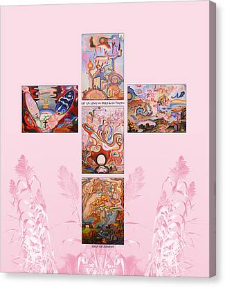Jesus Of Advent P P Canvas Print by Aswell Rowe