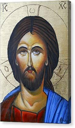 Icon Canvas Print - Jesus by Sorin Apostolescu