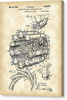 Jet Engine Patent 1941 - Vintage Canvas Print by Stephen Younts
