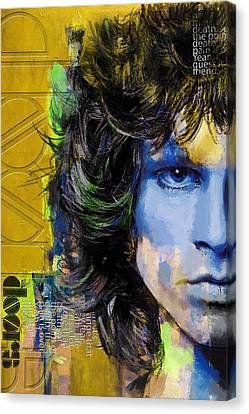 Jim Morrison Canvas Print by Corporate Art Task Force
