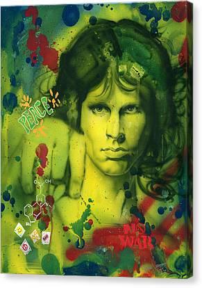 Jim Morrison Canvas Print by Luis  Navarro