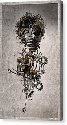 Canvas Print featuring the digital art Jimi Hendrix by Andy Walsh