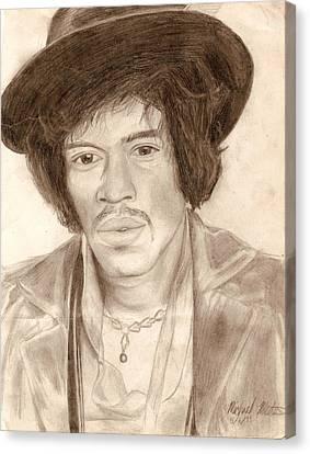 Jimi Hendrix Canvas Print by Michael Mestas