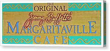 Jimmy Buffetts Margaritaville Cafe Sign The Original Canvas Print