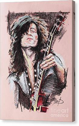 Jimmy Page Canvas Print - Jimmy Page by Melanie D