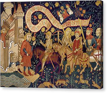 Tapestries - Textiles Canvas Print - Joan Of Arc, 1429 by Granger