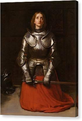 Joan Of Arc  Canvas Print by John Everett Millais
