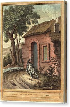 Johann Christoph Teucher After Jean-baptiste Oudry German Canvas Print by Litz Collection