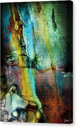 Crucify Digital Art Canvas Print - John 1 by Switchvues Design