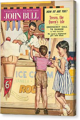 John Bull 1950s Uk Holidays Ice-cream Canvas Print by The Advertising Archives