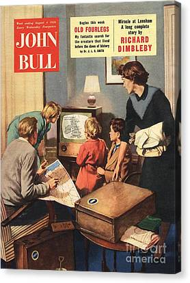 John Bull 1950s Uk Holidays Weather Canvas Print by The Advertising Archives
