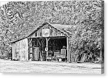 John Deere Barn Canvas Print by Scott Pellegrin