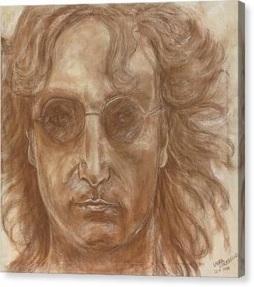 John Lennon Canvas Print by Laura Corebello