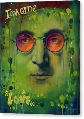 John Lennon Canvas Print by Luis  Navarro