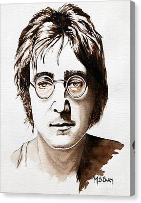 Canvas Print featuring the painting John Lennon by Maria Barry