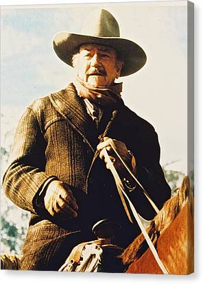 John Wayne In The Shootist Canvas Print by Silver Screen