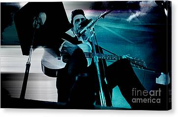 Johnny Cash Canvas Print by Marvin Blaine