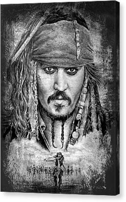 Johnny Depp Canvas Print by Andrew Read