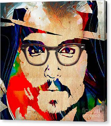 Johnny Depp Canvas Print - Johnny Depp Collection by Marvin Blaine
