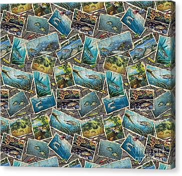 Jon Q Wright Fish Paintings Bedding Canvas Print