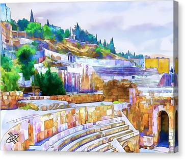 Petra Canvas Print - Jordan/amman/roman Theater by Fayez Alshrouf