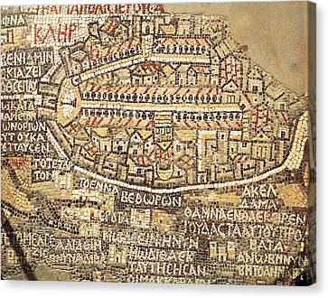 Jordan. Madaba. Basilica Of Saint Canvas Print by Everett