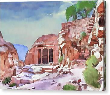Jordan/petra Canvas Print by Fayez Alshrouf