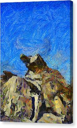 Joshua Tree Monster Rock Canvas Print by Barbara Snyder