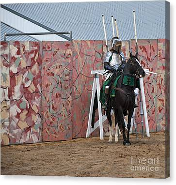 Athletic Sport Canvas Print - Jousting by Juli Scalzi