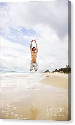 Youthful Canvas Print - Joyful Jumper by Jorgo Photography - Wall Art Gallery