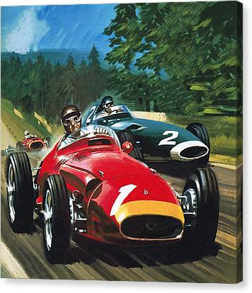 Juan Manuel Fangio Canvas Print by Wilf Hardy