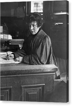1916 Canvas Print - Judge Carroll Mccomas by Underwood Archives
