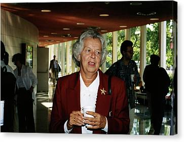 Judy Franz Canvas Print by Emilio Segre Visual Archives/american Institute Of Physics