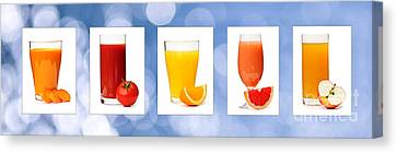 Juices Canvas Print by Elena Elisseeva
