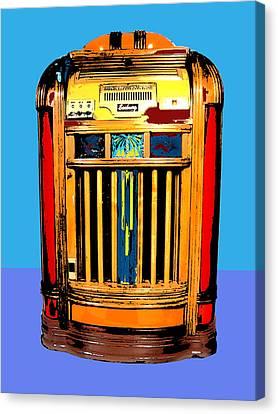 1960 Canvas Print - Juke Box 2 by Dominic Piperata