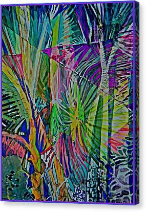 Jungle Lights Canvas Print by Mindy Newman