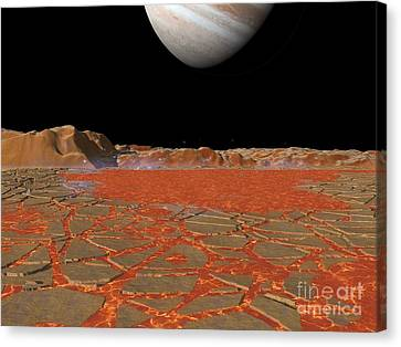 Jupiter From Io, Artwork Canvas Print by Walter Myers