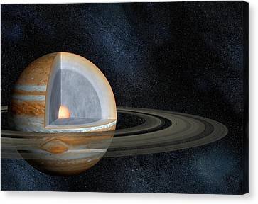 Jupiter's Interior Canvas Print by Henning Dalhoff