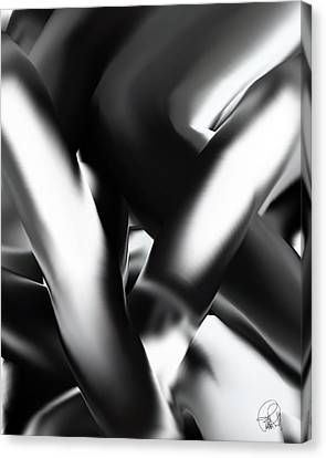 Just Intimacy  An Up Side Down Relationship Canvas Print by Sir Josef - Social Critic - ART