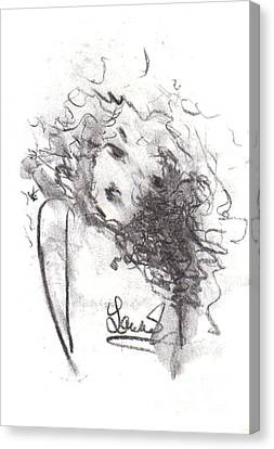 Canvas Print featuring the drawing Just Me by Laurie Lundquist