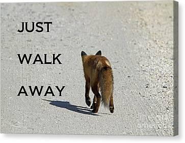 Just Walk Away Canvas Print by John Van Decker
