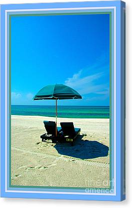 Just You And Me And The Beach Canvas Print by Susanne Van Hulst