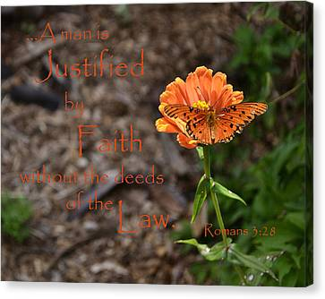 Justified By Faith Canvas Print by Larry Bishop