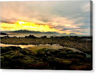 Canvas Print featuring the photograph Kaikoura Coast New Zealand by Amanda Stadther